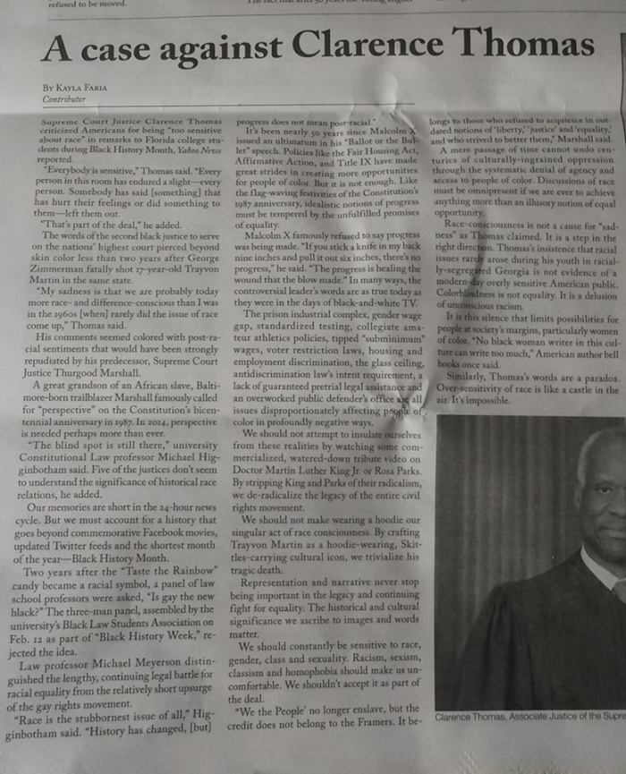 A case against Clarence Thomas